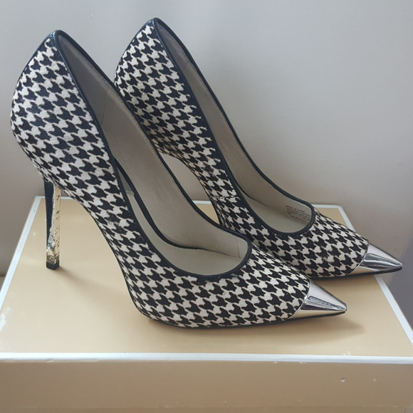 3c2294da96b7 Michael Kors Shoes | Zady Calfhair Houndstooth Pumps | Poshmark